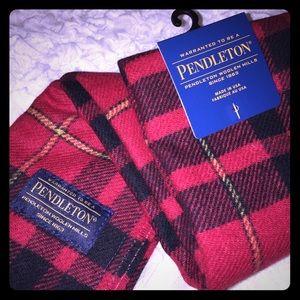 NEW NWT Pendleton Plaid Soft Wool Scarf